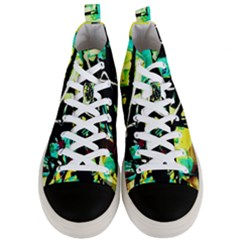 Dance Of Oil Towers 5 Men s Mid Top Canvas Sneakers