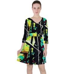 Dance Of Oil Towers 5 Ruffle Dress