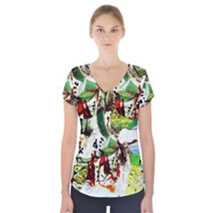 Doves Matchmaking 12 Short Sleeve Front Detail Top