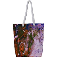 Close To Pinky,s House 12 Full Print Rope Handle Tote (small)