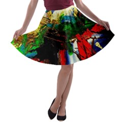 Catalina Island Not So Far 6 A Line Skater Skirt