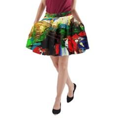 Catalina Island Not So Far 6 A-Line Pocket Skirt