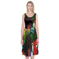 Catalina Island Not So Far 6 Midi Sleeveless Dress