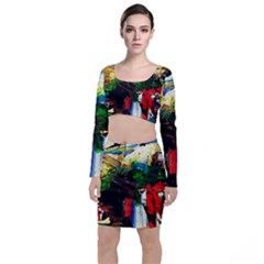 Catalina Island Not So Far 6 Long Sleeve Crop Top & Bodycon Skirt Set