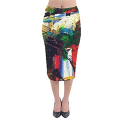 Catalina Island Not So Far 6 Velvet Midi Pencil Skirt by bestdesignintheworld