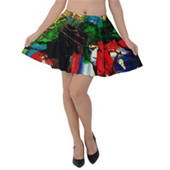 Catalina Island Not So Far 6 Velvet Skater Skirt by bestdesignintheworld
