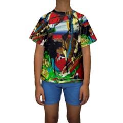 Catalina Island Not So Far 7 Kids  Short Sleeve Swimwear