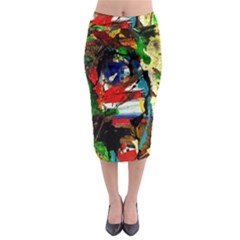 Catalina Island Not So Far 5 Midi Pencil Skirt