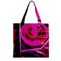 Calligraphy 2 Zipper Grocery Tote Bag