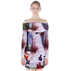 Doves Match 1 Long Sleeve Off Shoulder Dress