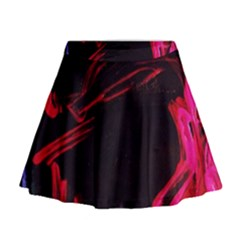 Calligraphy 4 Mini Flare Skirt