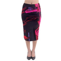 Calligraphy 4 Midi Pencil Skirt