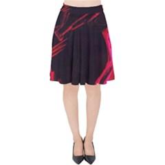 Calligraphy 4 Velvet High Waist Skirt