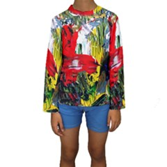 Bow Of Scorpio Before A Butterfly 2 Kids  Long Sleeve Swimwear