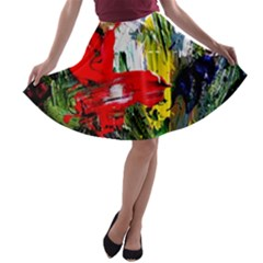 Bow Of Scorpio Before A Butterfly 2 A Line Skater Skirt