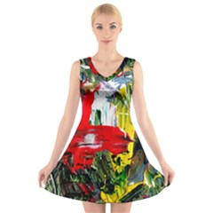 Bow Of Scorpio Before A Butterfly 2 V Neck Sleeveless Skater Dress