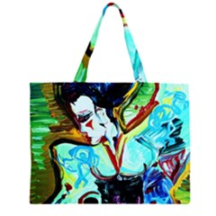 Woman Spirit Zipper Large Tote Bag