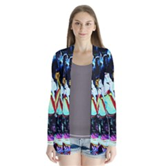 Woman Spirit Drape Collar Cardigan