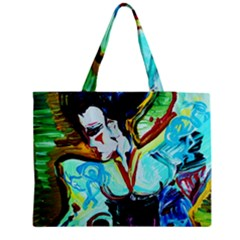 Woman Spirit Zipper Medium Tote Bag