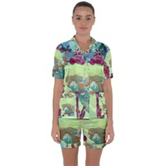 Trail 1 Satin Short Sleeve Pyjamas Set
