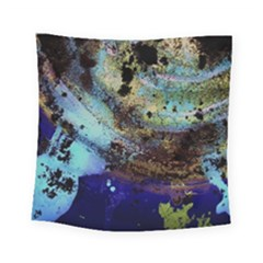 Blue Options 3 Square Tapestry (small)