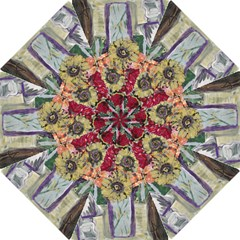 Sunflowers And Lamp Hook Handle Umbrellas (medium) by bestdesignintheworld