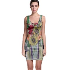Sunflowers And Lamp Bodycon Dress
