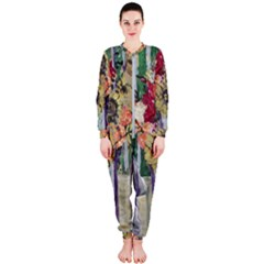 Sunflowers And Lamp Onepiece Jumpsuit (ladies)