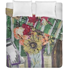 Sunflowers And Lamp Duvet Cover Double Side (california King Size)