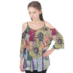 Sunflowers And Lamp Flutter Tees