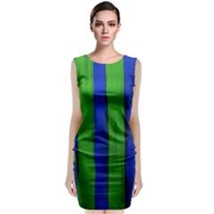 Stripes Classic Sleeveless Midi Dress