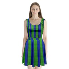 Stripes Split Back Mini Dress