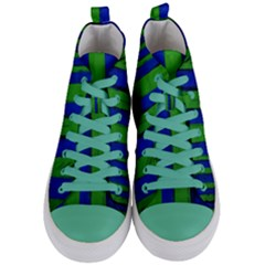 Stripes Women s Mid Top Canvas Sneakers
