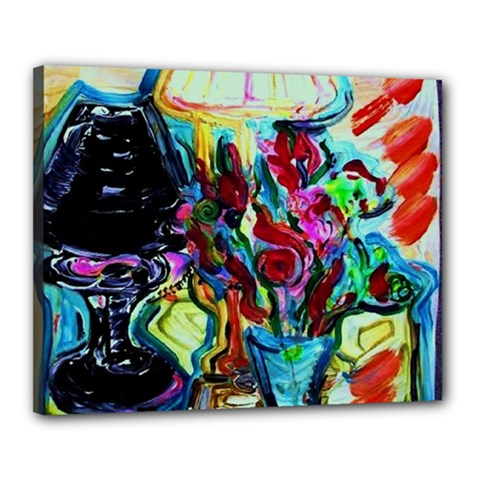Still Life With Two Lamps Canvas 20  X 16