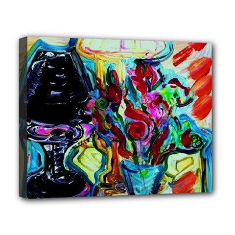 Still Life With Two Lamps Deluxe Canvas 20  X 16   by bestdesignintheworld