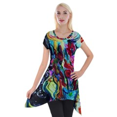 Still Life With Two Lamps Short Sleeve Side Drop Tunic