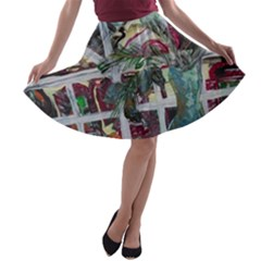 Still Life With Tangerines And Pine Brunch A Line Skater Skirt