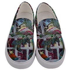 Still Life With Tangerines And Pine Brunch Men s Canvas Slip Ons