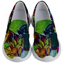 Still Life With A Pig Bank Kid s Lightweight Slip Ons
