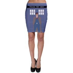 Tenth Doctor And His Tardis Bodycon Skirt