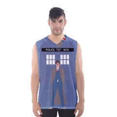 Tenth Doctor And His Tardis Men s Basketball Tank Top