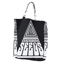 Psychedelic Seeds Logo Giant Grocery Zipper Tote
