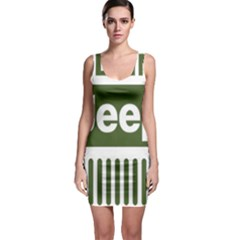 Only In A Jeep Logo Bodycon Dress