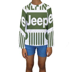 Only In A Jeep Logo Kids  Long Sleeve Swimwear