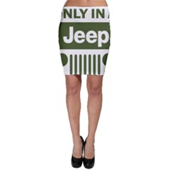 Only In A Jeep Logo Bodycon Skirt
