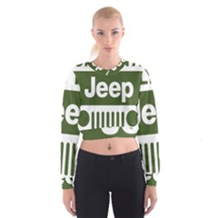 Only In A Jeep Logo Cropped Sweatshirt