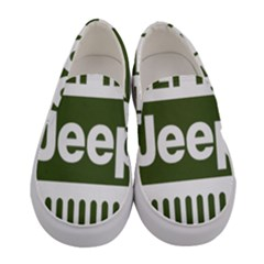 Only In A Jeep Logo Women s Canvas Slip Ons
