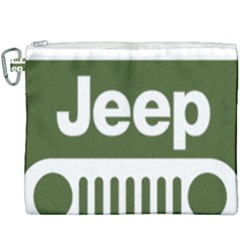 Only In A Jeep Logo Canvas Cosmetic Bag (xxxl)