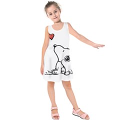 Snoopy Love Kids  Sleeveless Dress
