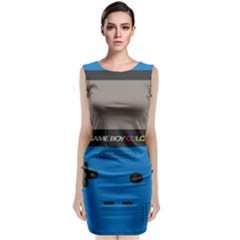 Game Boy Colour Blue Classic Sleeveless Midi Dress